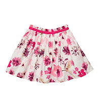 OshKosh B'Gosh® Girls' 4-6X Pink/White Floral Woven Skort