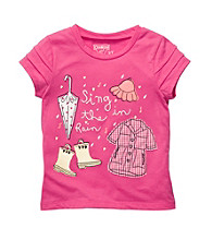 OshKosh B'Gosh® Girls' 2T-4T Pink Short Sleeve Singing In The Rain Tee