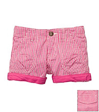 OshKosh B'Gosh® Girls' 2T-4T Pink Gingham Woven Short