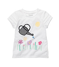 OshKosh B'Gosh® Girls' 2T-4T White Short Sleeve Watering Can Tee