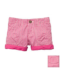 OshKosh B'Gosh® Girls' 4-6X Pink Gingham Woven Short