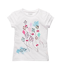 OshKosh B'Gosh® Girls' 4-6X White Short Sleeve Kite Tee