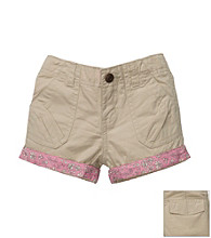 OshKosh B'Gosh® Girls' 4-6X Khaki Woven Shorts