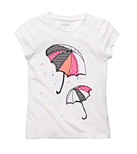 OshKosh B'Gosh® Girls' 4-6X White Short Sleeve Umbrella Tee