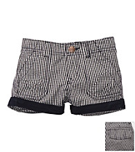 OshKosh B'Gosh® Girls' 4-6X Navy Gingham Woven Shorts