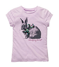 OshKosh B'Gosh® Girls' 4-6X Lilac Short Sleeve Bunny Tee
