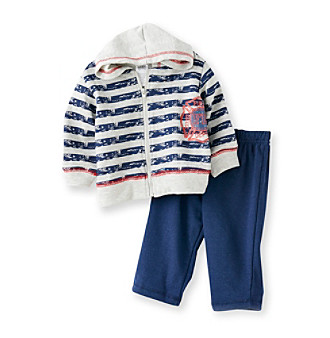 Baby Essentials® Baby Boys' Navy 2-pc. Fire Department Jog Set
