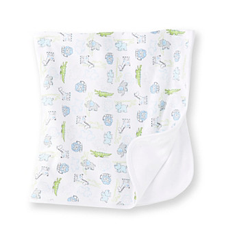 Little Me® White Fun Safari Blanket