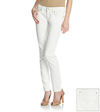 Levi'sx® Juniors' 524 White Triple Needle Skinny Jeans