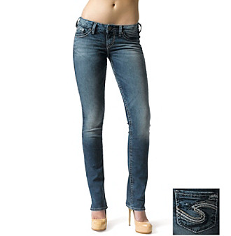 Silver Jeans Co. Berkley Straight Fit Low-Rise Straight Leg Jeans Women's