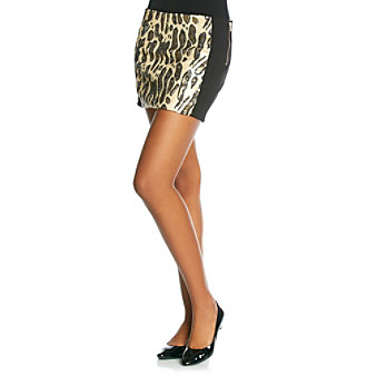 XOXO® Juniors' Sequin Animal Print Skirt