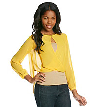 XOXO® Juniors' Open Back Twist Top