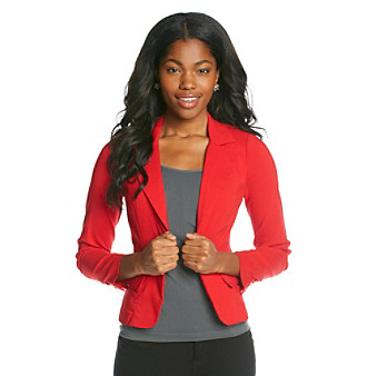 XOXO® Juniors' One-Button Jacket