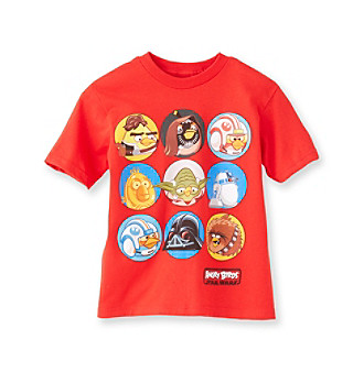 Angry Birds™ Boys' 4-20 Red Short Sleeve Star Wars Tee