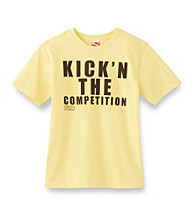 PUMA® Boys' 8-20 Yellow Short Sleeve Kick the Competition Tee