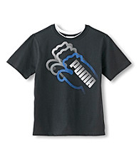 PUMA® Boys' 8-20 Short Sleeve Triple Cat Tee