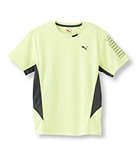 PUMA® Boys' 8-20 Yellow Short Sleeve Cool Cell Strong Tee