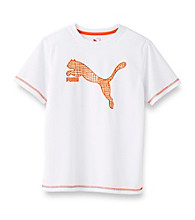 PUMA® Boys' 8-20 White Short Sleeve Cell Dry Goal Tee