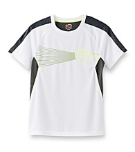 PUMA® Boys' 8-20 White Short Sleeve Cool Cell Exertion Tee