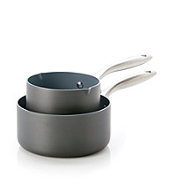 GreenPan® 2-Pack Hard Anodized Aluminum Saucepan Set