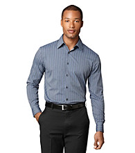 Van Heusen® Men's Blue Estate Blue Dobby Striped Woven