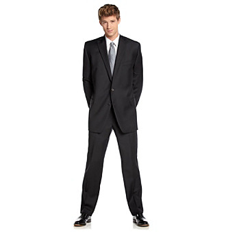 Lauren Ralph Lauren Men's Big & Tall Black Suit Separates
