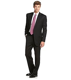 Lauren Ralph Lauren Men's Big & Tall Black Stripe Suit Separates