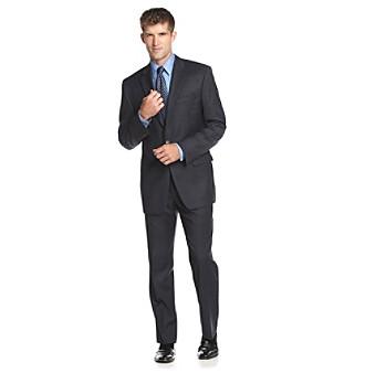 Lauren Ralph Lauren Men's Big & Tall Navy Plaid Suit Separates