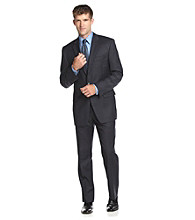 Lauren® Men's Big & Tall Navy Plaid Suit Separates