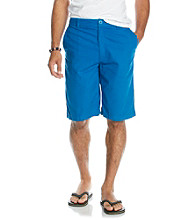Mambo® Men's Snorkle Blue Solid Flat Front Short