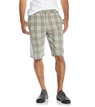 Mambo® Men's Plaid Flat Front Short