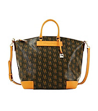 Dooney & Bourke® 1975 Signature Vanessa - Brown with Biscuit Trim