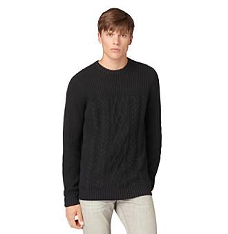 Calvin Klein Jeans® Men's Cable Knit Crew Neck Sweater