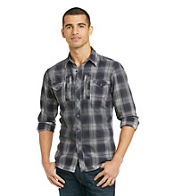 Guess® Men's Edie Purple Long Sleeve Clash Shirt
