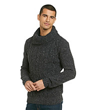 Guess® Men's Jet Black Radley Funnel Neck Sweater