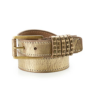 Calvin Klein Bronze Metallic Distressed Belt