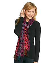 V. Fraas Scrunched Scroll Print Scarf