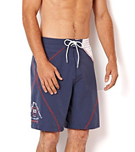 Nautica® Men's Lapis Blue Sail Stitch Swim Shorts