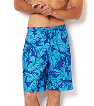 Nautica® Men's Breezy Blue Floral Print Swim Shorts