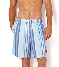 Nautica® Men's Bait Cast Blue Stripe Swim Shorts