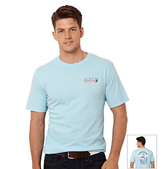 "Nautica® Men's Bait Cast Blue ""Nice Catch"" Short Sleeve Tee"