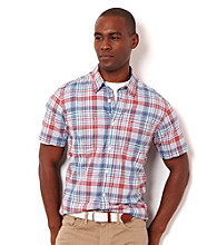 Nautica® Men's Sailor Red Plaid Short Sleeve Woven