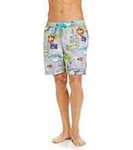 Tommy Bahama® Men's Light Gray Lay of the Land Swim Trunks