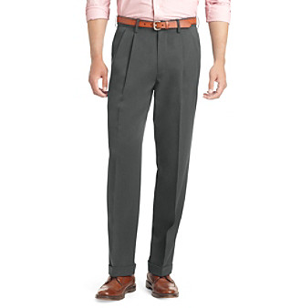 Izod Men's Big & Tall Classic Fit Pleated Ultimate Travel Pant