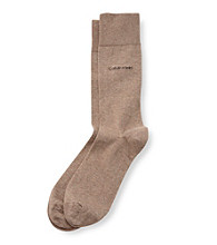 Calvin Klein Men's Egyptian Cotton Flat Knit Sock