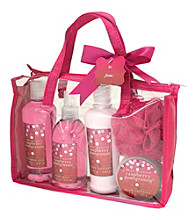 Simple Pleasures Sequins 5-piece Spa Tote