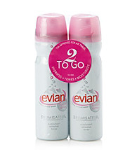 Evian 2-Pk Natural Mineral Water Facial Spray
