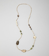 Laura Ashley® Goldtone And Green Turquoise Strand Necklace