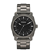 Fossil® Machine Smoke Ion-Plated with Black Dial Men's Dress Watch