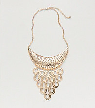 Erica Lyons® Gold Reflections Short Bib Necklace